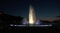 Pittsburgh Point State Park Fountain at Night Stock Footage