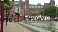 IAmsterdam Sign 2 Stock Footage