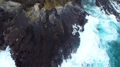 Aerial over Halona Blow Hole Stock Footage
