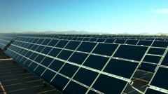 Solar Energy, Power Plant.  Aerial, Wide View. - stock footage
