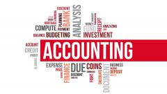 Accounting. Two different angels. Alpha matte. - stock footage