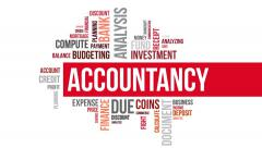 Accountancy. Two different angels. Alpha matte. Stock Footage