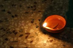 Stock Photo of traditional diya of illumination, diwali festival concept