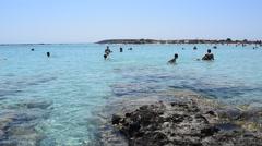 Elafonisi Beach in Crete Island, Greece Stock Footage