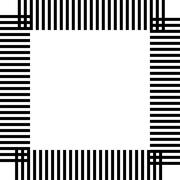 Black band square abstract geometric pattern Stock Illustration