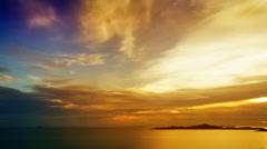 Pattaya Tower sunset - stock footage