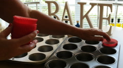 Making cup cakes time lapse 4K Stock Footage