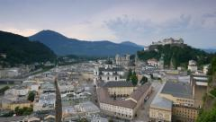 Historic city of Salzburg, Austria Stock Footage