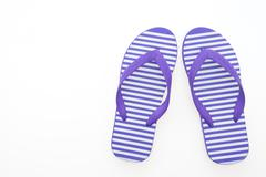 Flip flop isolated on white Stock Photos
