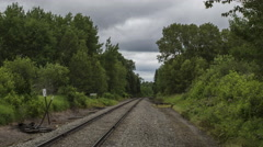 Northern Maine: Railroad through Woods Stock Footage