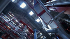 Big factory - industrial production Stock Footage