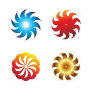 Stock Illustration of Blade icon set Circular symbol