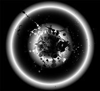 Circle grunge black background Stock Illustration
