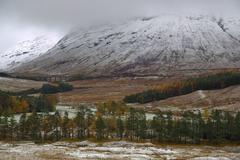 Winter in Glen Goe, Scottish Highlands Stock Photos