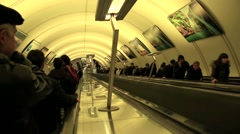 Moscow Metro. Maryina Roshcha subway - stock footage
