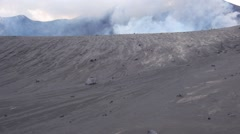 Aerial view of active volcano Tavurvur - stock footage