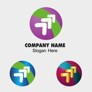 Global arrow sign template for business Stock Illustration