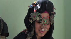 Girl berber in costume traditional Stock Footage