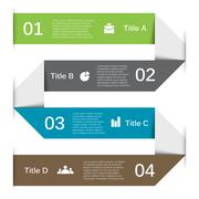 Vector arrows lines infographic. Template for diagram, graph, presentation and Stock Illustration