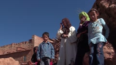 Family in the valley of Drâa in Morocco Stock Footage