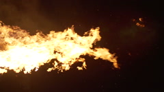 Slow motion of fire - stock footage