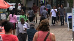 Busy pedestrian street Stock Footage