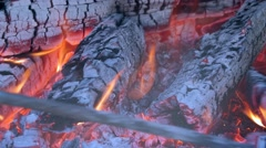 Fire burning in the Fireplace - stock footage