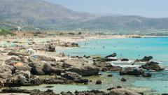 4K Falasarna Beach in Crete Island, Greece Stock Footage