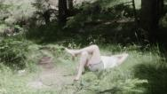 Stock Video Footage of Man relaxing in nature