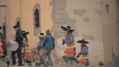 Folkloric dancers on the Mexican streets Stock Footage