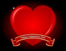 Valentine's Day Greeting card Stock Photos