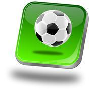 Button with Soccer ball Stock Photos