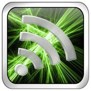 Wireless WiFi Wlan button Stock Photos