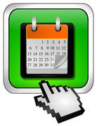 Calendar button with Cursor - stock photo
