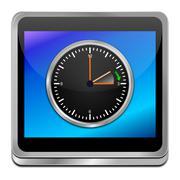 daylight saving time button - stock photo