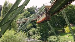 The historic Suspension Railway in Wuppertal, Germany Stock Footage