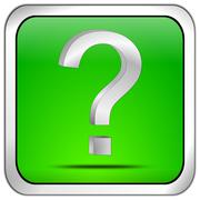 Button with question mark Stock Photos