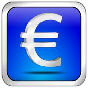 Button with Euro sign - stock photo