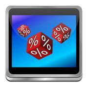 discount button - stock photo
