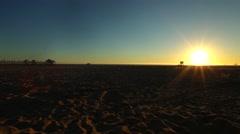 Huntington Beach Sundown (California) 02 Stock Footage