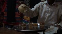 Berber drinking the tea in the Kasbah Stock Footage