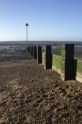 Breakwater at Leigh-on-Sea, Essex, England - stock photo