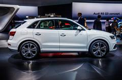MOSCOW, RUSSIA - AUG 2012: AUDI Q3 2.0 T QUATTRO presented as wo Stock Photos