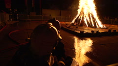 Slow motion of fireworks at swiss national day - stock footage