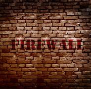 Firewall protection Stock Illustration