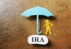 IRA savings - stock photo