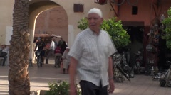 Market place and souk in Marrakech Stock Footage