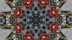 Jewelry Kaleidoscope Background  mix2 Stock Footage