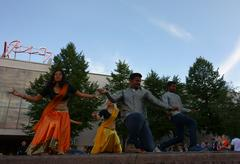 EDITORIAL: Indian dance at the Night of the Arts festival in Helsinki, Finland Stock Photos