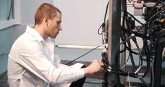 Engine repair. auto repair Stock Footage